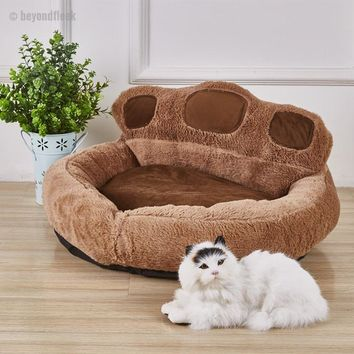 High quality Cute Bear Paw Shaped Cat & Dog Bed