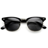 zeroUV Womens ZV-2936e Polarized Wayfarer Sunglasses, Black, 49 mm