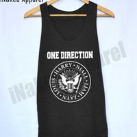 1D One Direction Ramones Shirts Harry Style Tank Top Vintage Unisex Size S M L