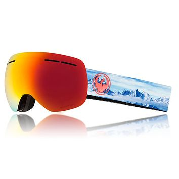 Dragon - X1s Realm Snow Goggles / Lumalens Red Ion + Lumalens Rose Lenses