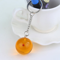 Anime Keyring Dragon Ball Z Keychain 1 2 3 4 5 6 7 Star Ball Shape Pendant Key Chain For Fans Collection