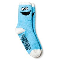 Sesame Street™ Cookie Monster Women's Cozy Socks - Blue One Size