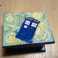 Little Starry Night Tardis Box