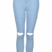 MOTO Bleach Ripped Joni Jeans - Bleach Stone