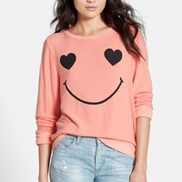 Wildfox 'Happy Heart Face' Sweater | Nordstrom