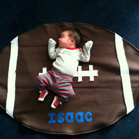 Football Shaped NFL Cozy Fleece Personalized Baby Blanket