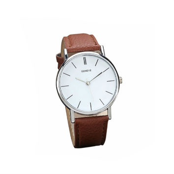 Chelsea Vegan Leather Watch - Brown