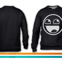 Awesome Smiley 1c crewneck sweatshirt
