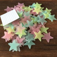CREYHY3 100pcs Wall Decals Glow In The Dark Nursery Room Color Stars Luminous Fluorescent Wall Stickers for Kids Rooms Home Decor
