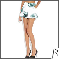 Green tie dye Rihanna high waisted shorts