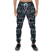 Colorful Prism Triangles Design 2 Men's All Over Print Casual Jogger Pants