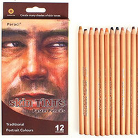 Art Supplies Bulk Painting Skin Tone Colored Pencils Drawing for Adults 12 Count