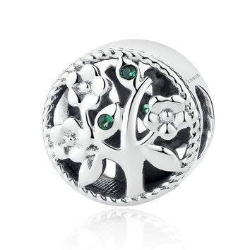 925 Sterling Silver Tree of Life Bead Charms fits Charm Bracelets