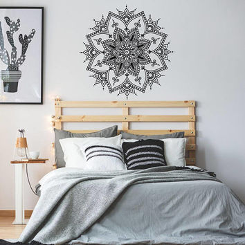 Mandala Wall Decal, Mandala Decal, Bohemian Bedroom Decor, Boho Mandala Wall Decor, Mandala Vinyl Sticker, Yoga Wall Art Decor K138