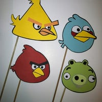 Angry birds photo booth props