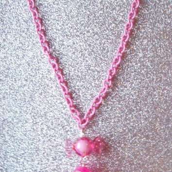 Sweet Sparkly Pinkie Pie and Candy Charm  Necklace