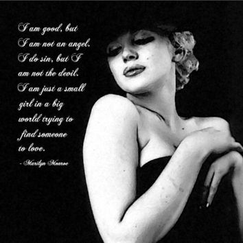 Canvas Wall Art Marilyn Monroe quote on Love by loristclair