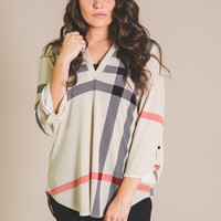 Mulberry's Favorite Stripe Top (Ivory)-Plus Size