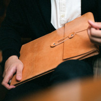 $168.00 Handmade 13 MacBook Air Leather Envelope Case by LoraynLeather