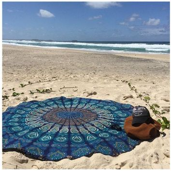 PEAPGB2 150CM Circle Yoga Blanket High-Q Mandala Round Beach Tapestry HippieYoga Mat Towel Indian Design Kinds Of Pattern Yoga towel