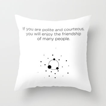 Friendship 2 Throw Pillow by Declaration