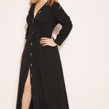 "Rebdolls ""Hold You Down"" Button Down Maxi Dress"