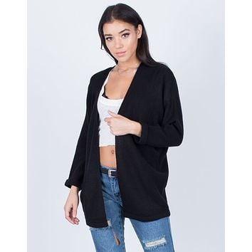 Cuffed Sleeves Cardigan