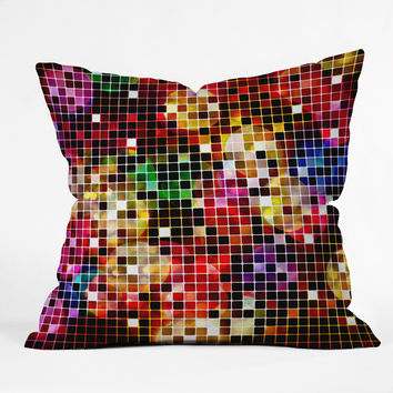Belle13 Crazy Disco Throw Pillow