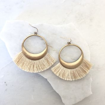 It's Showtime Gold Tassle Earrings