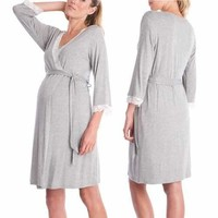 Lace Maternity Pajamas for Pregnant Women