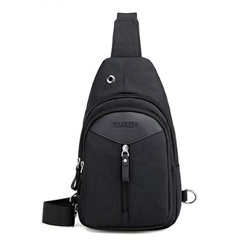 Casual Men's Chest Pack Waterproof Oxford High Quality Flap Single Shoulder Bags Male Small Travel Crossbody Bag Daily Sling Bag