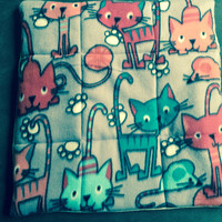 Purr Paw print Cat Bed