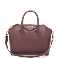 Antigona Small Sugar Satchel Bag, Bordeaux - Givenchy