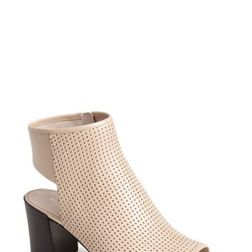 "Women's Kenneth Cole New York 'Shay' Open Toe Perforated Leather Bootie, 2 1/2"" heel"