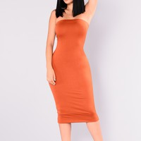Mira Tube Dress - Rust