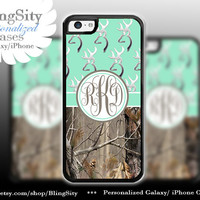 Monogram Iphone 5C case Browning Mint iPhone 5s iPhone 4 case Ipod 4 5 case Real Tree Camo Deer Personalized Country Girl