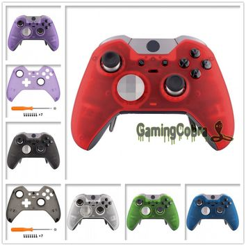 Foggy Clear Soft Touch Faceplate Front Housing Shell for Xbox One Elite Controller W/ Accent Rings XOEP009X 13X 14X 15X 16X 17X