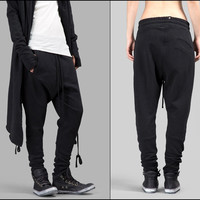 Women's Black Basic Trouser LOW CROTCH Sweatpant