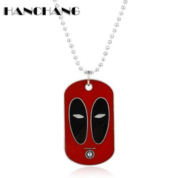Deadpool Dead pool Taco  Charms Pendant Necklace Beads Link Chain Dog Tag Necklace for Women men Fashion Jewelry Accessories Collier Neck Lace AT_70_6