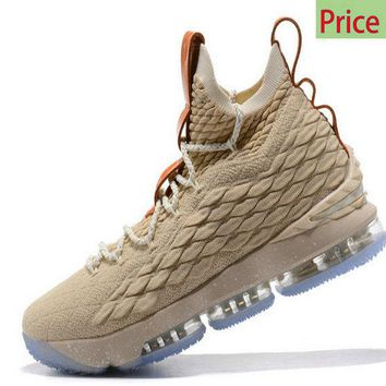 Latest and Newest Nike LBJ LeBron 15 XV EP Ghost String Vachetta Tan-Sail 2018 Mens Basketball Sneakers 897648-200 sneaker