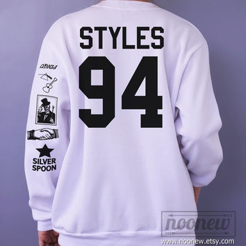 Harry Styles Tattoo Sweatshirt Sweater Crew Neck Shirt – Size S M L XL