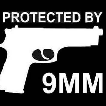 Protected By 9MM Bumper Sticker