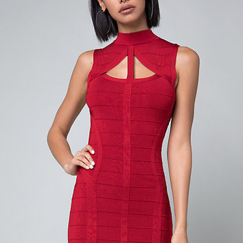 SAUNDRA BANDAGE DRESS