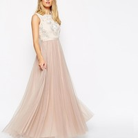 Needle & Thread Embellished Rose Lace Maxi Dress