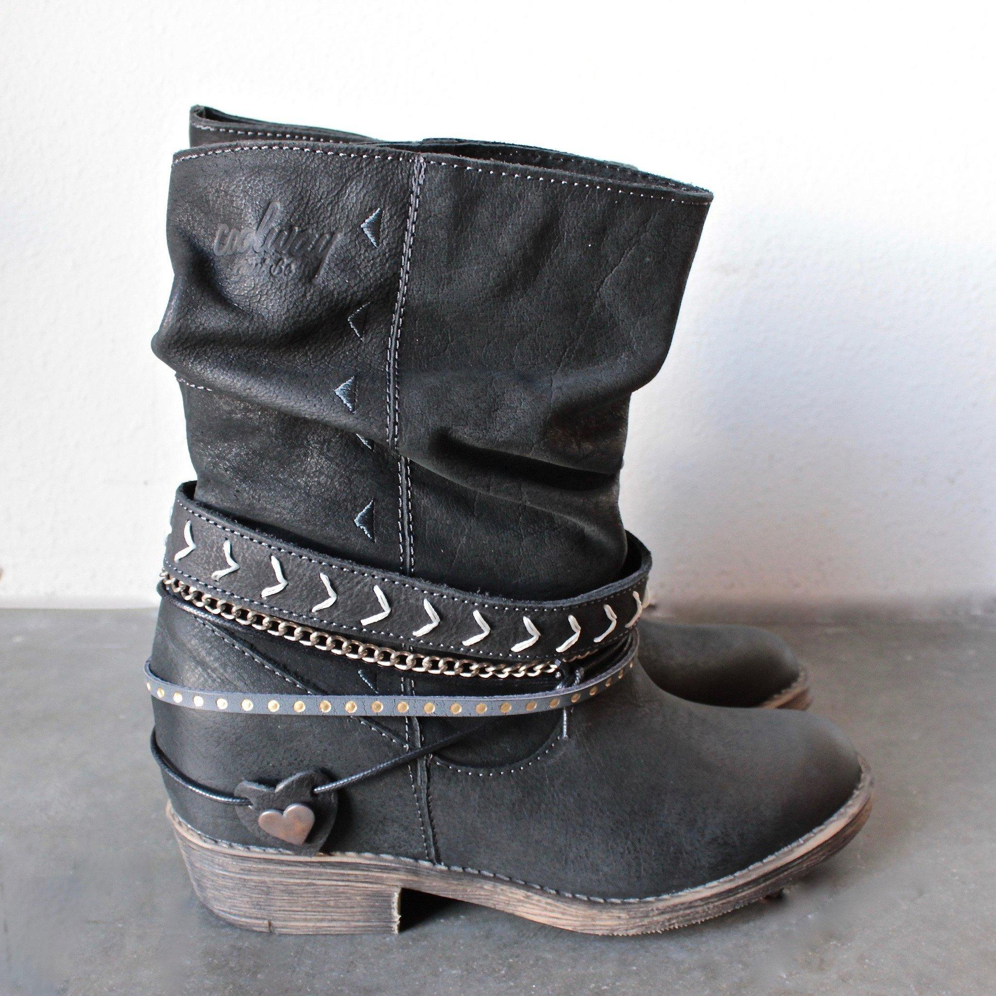 newest collection newest another chance coolway - carey womens distressed slouchy western leather ankle boots in  black