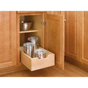 Rev-A-Shelf 6 in. H x 11 in. W x 19 in. D Small Base Cabinet Pull-Out Wood Drawer-4WDB-12 - The Home Depot