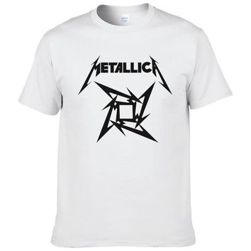 men t-shirt Heavy Metal Rock Metallica T Shirt Men o-neck Rock Classic Cotton Tee Shirts fashion cotton