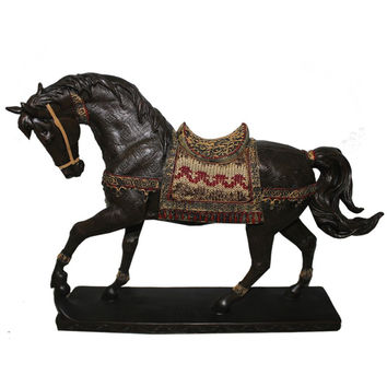 Inspiring Horse on Stand Polyresin