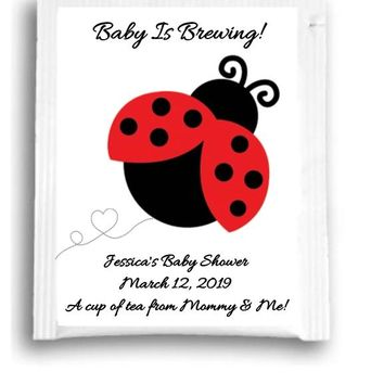 10 Ladybug Baby Shower Tea Favors