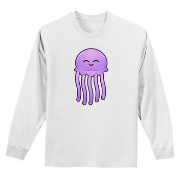 Cute Jellyfish Adult Long Sleeve Shirt by TooLoud